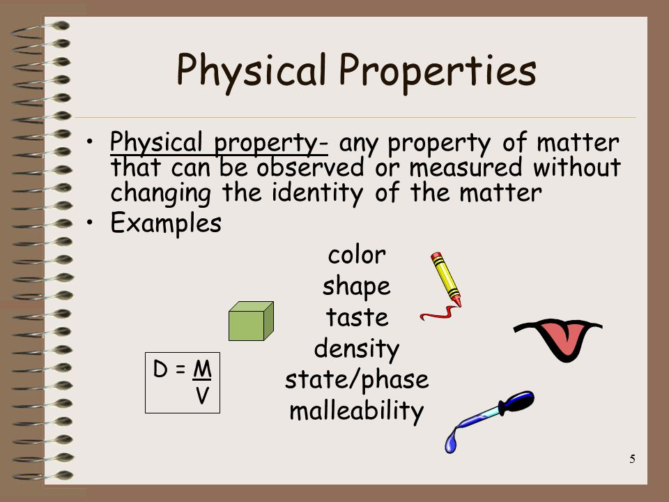 Unit 1 Physical Properties of Matter - Mr. Palm's Social ... What Are Some Examples Of Physical Properties