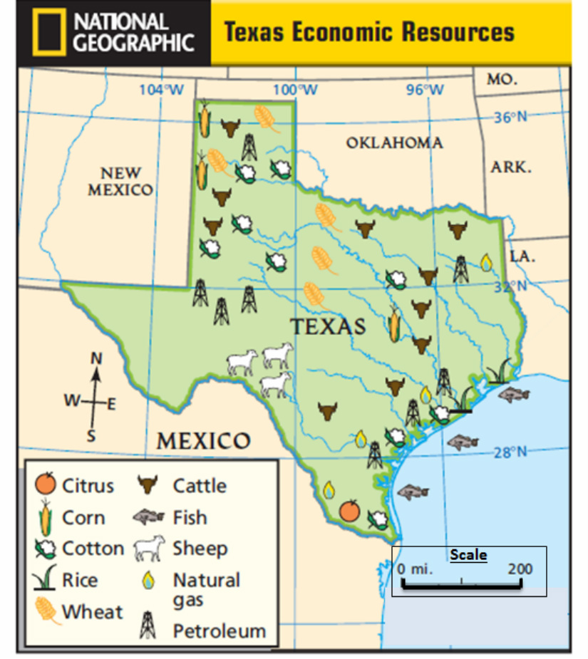 Map Of Texas Natural Resources.Tx Maps Mr Palm S Science Social Studies Site